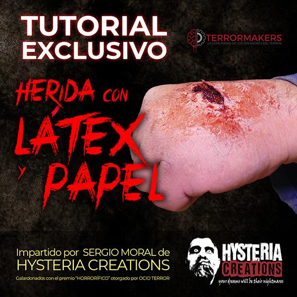 TUTORIAL HERIDA CON LATEX Y PAPEL